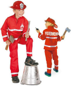 Details zu Feuerwehrjunge Feuerwehr Uniform Karneval Fasching Kinder Kostüm 98 128
