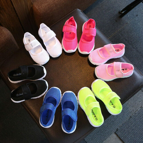 Kids Boys Girls Summer Beach Flat Sandals Trainers Breathable Mesh Shoes