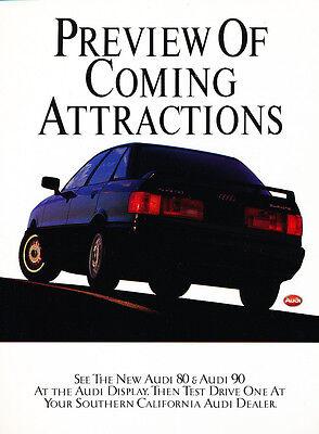 road Classic Vintage Car Advertisement Ad J27 1988 Audi 5000 quattro