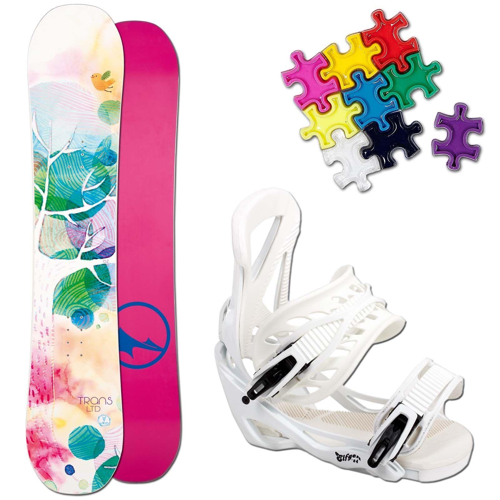 Trans Ltd Women's Snowboard Set - 152 Cm + Elfgen Team Binding SIZE M + Pad