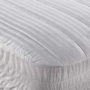 twin mattress pad. Exellent Mattress Image Is Loading WamsuttaDobbyStripeTwinMattressPadinWhite Throughout Twin Mattress Pad