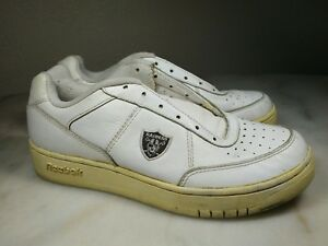 5df06e9a600 Image is loading Oakland-Raiders-Shoes-NFL-Reebok-White-Recline-Mens-