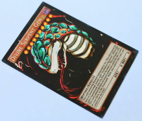 Divine Serpent Geh YUGIOH  orica SECRET RARE custom altered art