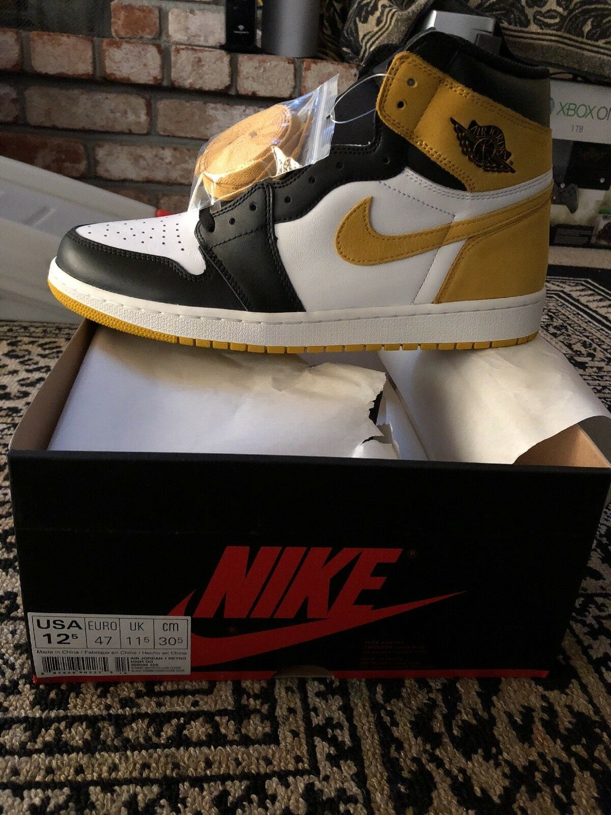 Rare Air Jordan 1 Yellow Ochre Best Hand In The Game Size 12.5