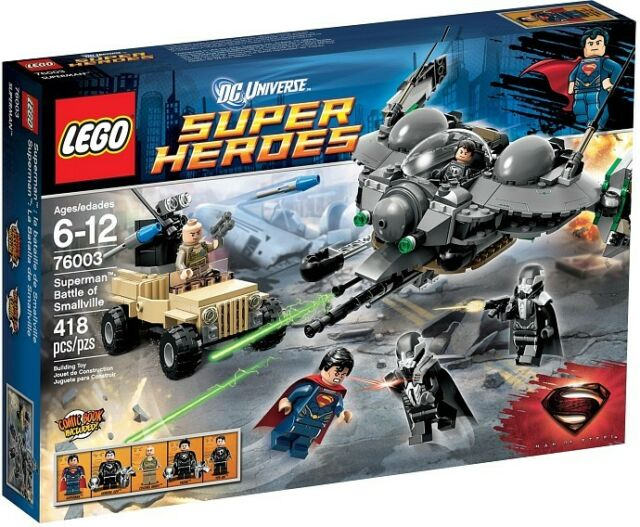 LEGO 76003 DC Super Heroes SUPERMAN BATTLE OF SMALLVILLE with ZOD 2013 MIB