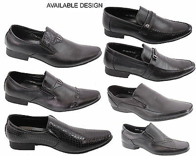 MENS SMART OFFICE WEDDING SHOES ITALIAN DRESS WORK CASUAL PARTY SIZE BOYS SCHOOL