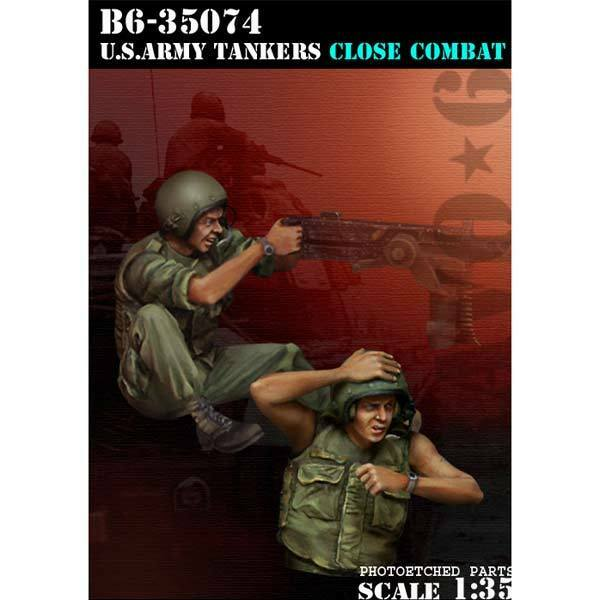 BRAVO-6 35074 U.S. ARMY TANKERS Close Close Close Combat 1 35 RESIN FIG. 4878e3