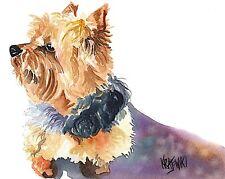 Yorkshire Terrier Art Print Signed by Artist Ron Krajewski Painting 8x10 Yorkie