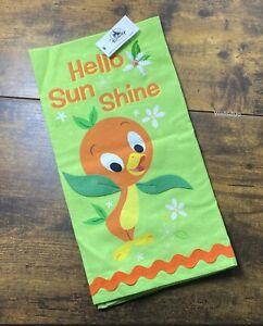 New-Disney-Parks-2021-Orange-Bird-Hello-Sunshine-Kitchen-Dish-Towel