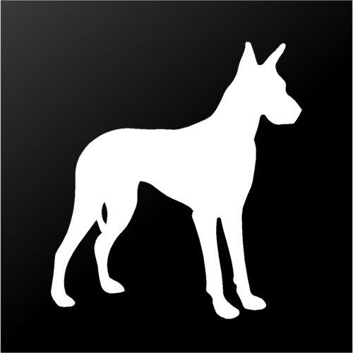 Great Dane Vinyl Decal Car Window Laptop Dog Breed Silhouette Sticker