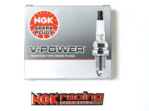 NGK V-POWER SPARK PLUGS FREE NGK EMBLEM FOR 00-09 SUBARU OUTBACK 2.5L