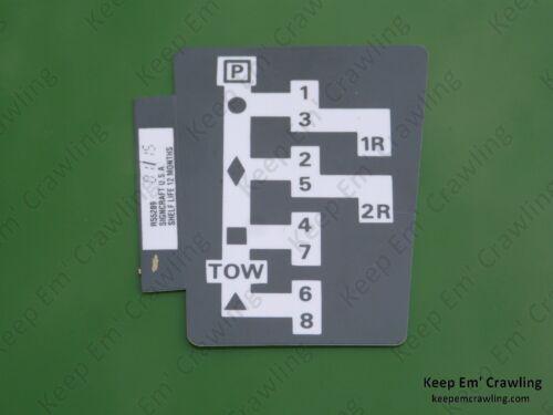 John Deere R55289 Syncro-Range Shift Pattern Decal 4230,4040,4240,4440,4640,4840