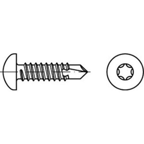 500 x  Bohrschrauben,mit Linsenkopf nach ISO 14585 DIN 7504 Stahl N 5,5 x 32 T2