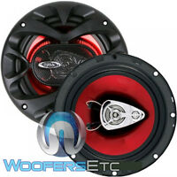 Boss Ch6530 6.5 150w 3-way Coaxial Car Audio 4-ohm Red Speakers Pair