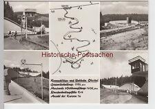 (86654) Foto AK Oberhof i. Thür., Mehrbildkarte Rennschlitten- u.Bobbahn 1976