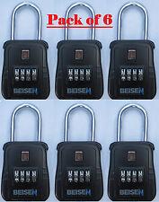 Pack Of 6 Lockbox Key Lock Box For Realtor Real Estate 4 Digit