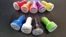 Chargeur Allume cigare de voiture 2 USB 2 câbles smartphone ou MP3/4 9 couleurs