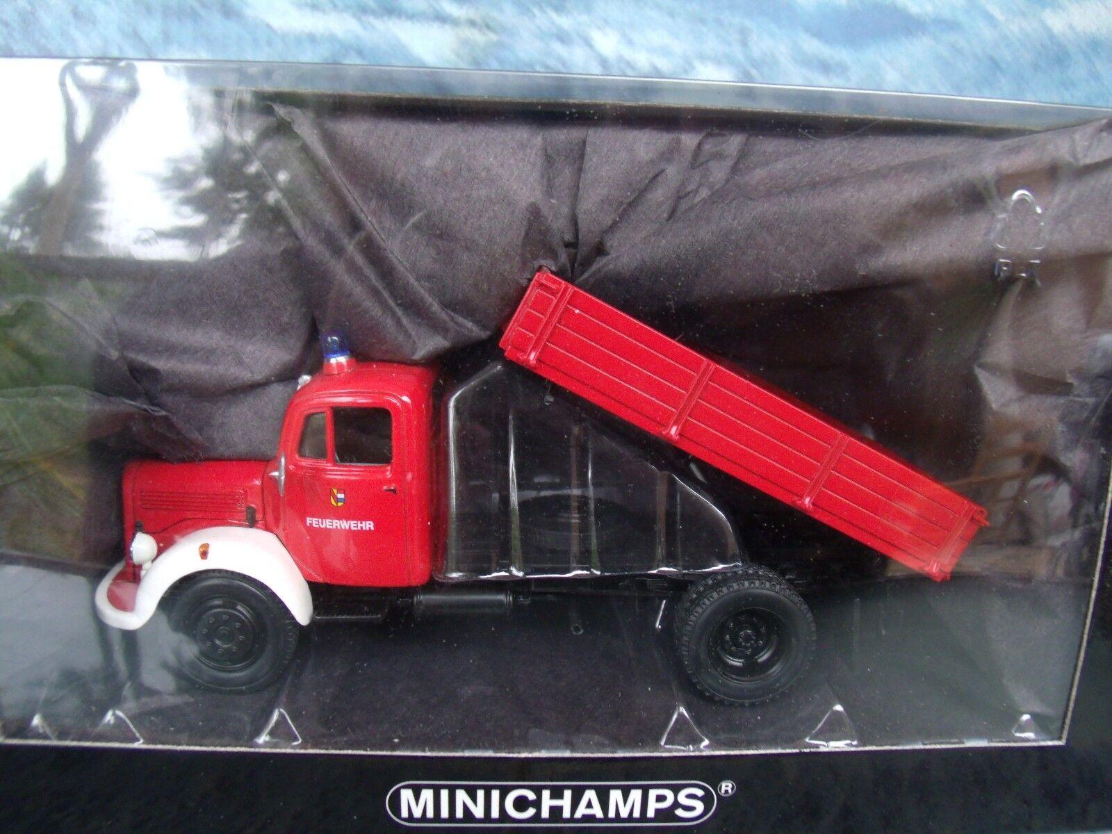 1 43 Minichamps Mercedes L 3500k Kipper Camión De Bomberos 1 De 1008