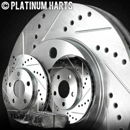 FRONT KIT PLATINUM HART DRILLED SLOT BRAKE ROTORS AND SEMI MET PAD PHCF.6201803