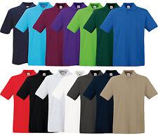FRUIT OF THE LOOM Poloshirt PREMIUM Polo M L XL XXL 3XL 100%BAUMWOLLE SHIRTS NEU