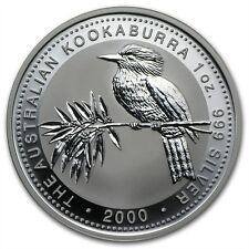 Perth Mint Australia $1 Dollar Kookaburra 2000 1 oz .999 Silver Coin