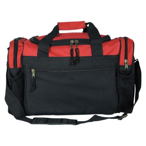 "Men//Women Dufflel Bag Sports Travel Workout Gym Bag Red Black Blue Gold Gray 17/"""