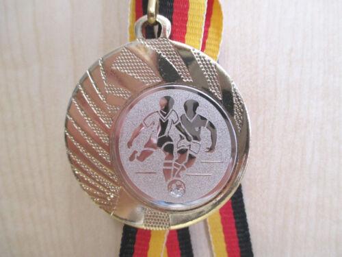 e262 Fußball Pokal Kinder Medaillen 10 x mit Band/&Emblem Turnier mit Fussball