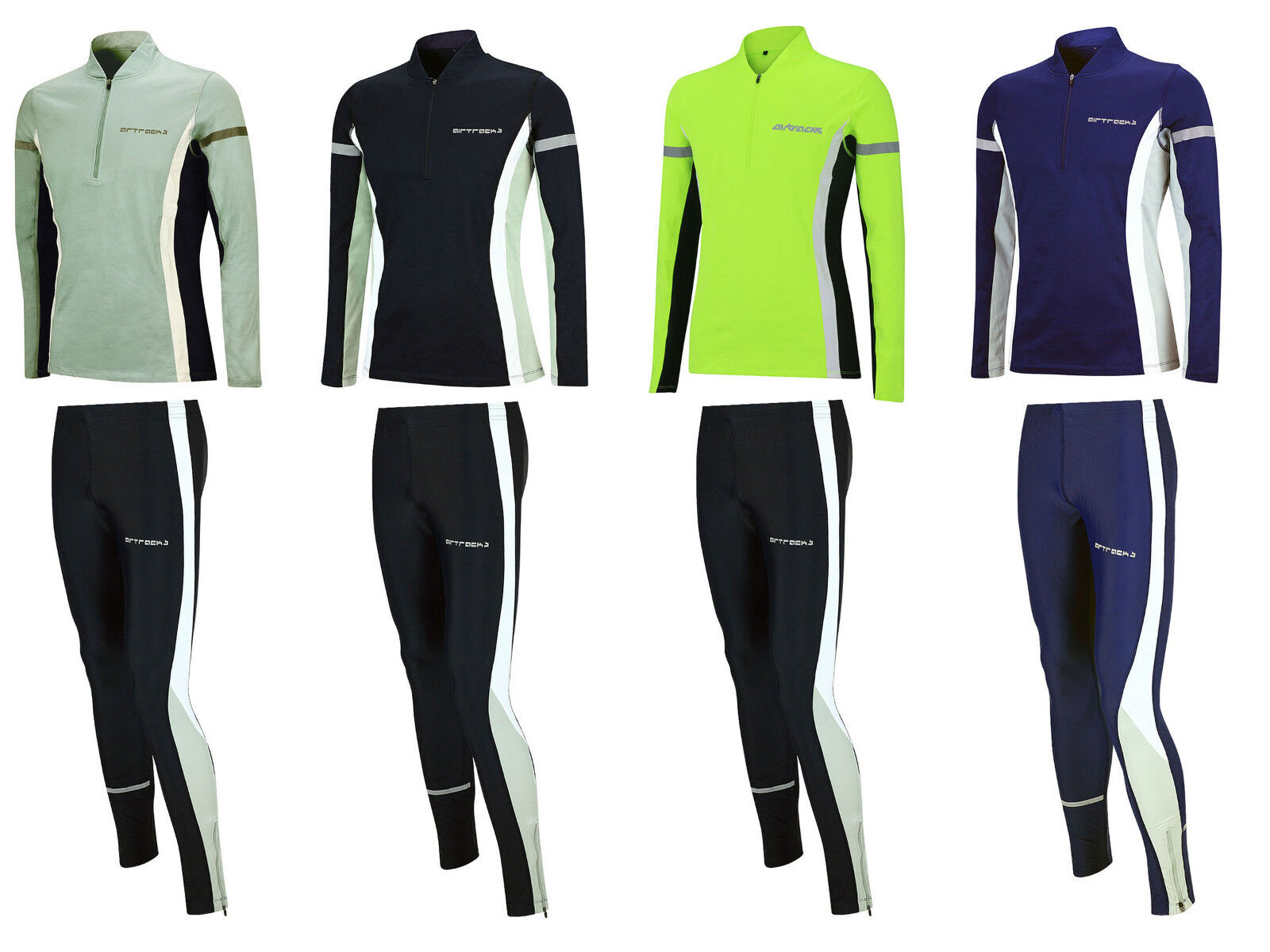 Airtracks invierno Funktions  laufset Thermo corre camisa larga + pantalones tight Lang   salida de fábrica