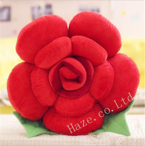 Throw Pillows Flower Shape Rose Cushion Lover Sofa Bed Chair Soft