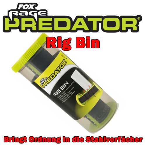 Fox Rage Predator Rig Bin Ordnung für Rigs und Stahlvorfächer Transportrolle