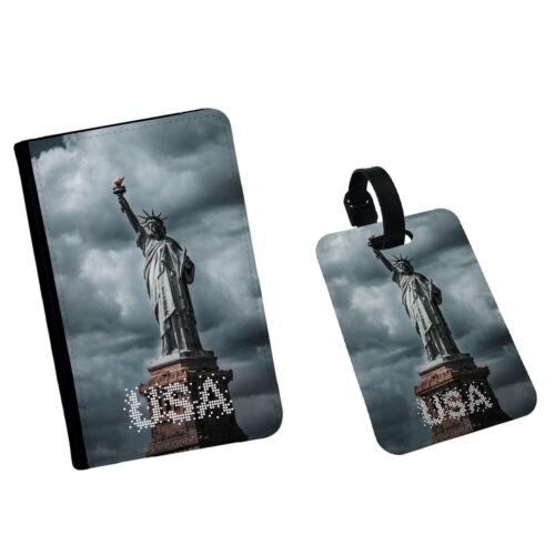 Statua della Libertà Cloud Stati Uniti America USA NEW YORK Passaporto Custodia Flip Cover