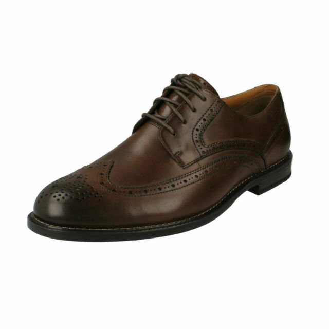 77a89fadc6e Mens Clarks Dorset Limit Leather Smart Brogue Detail Lace up Shoes ...