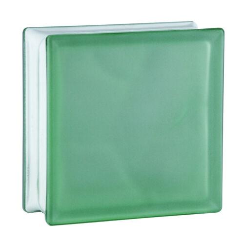 6 Stück Glasbausteine Glasstein Glassteine WOLKE GRÜN  Sahara 19x19x8cm