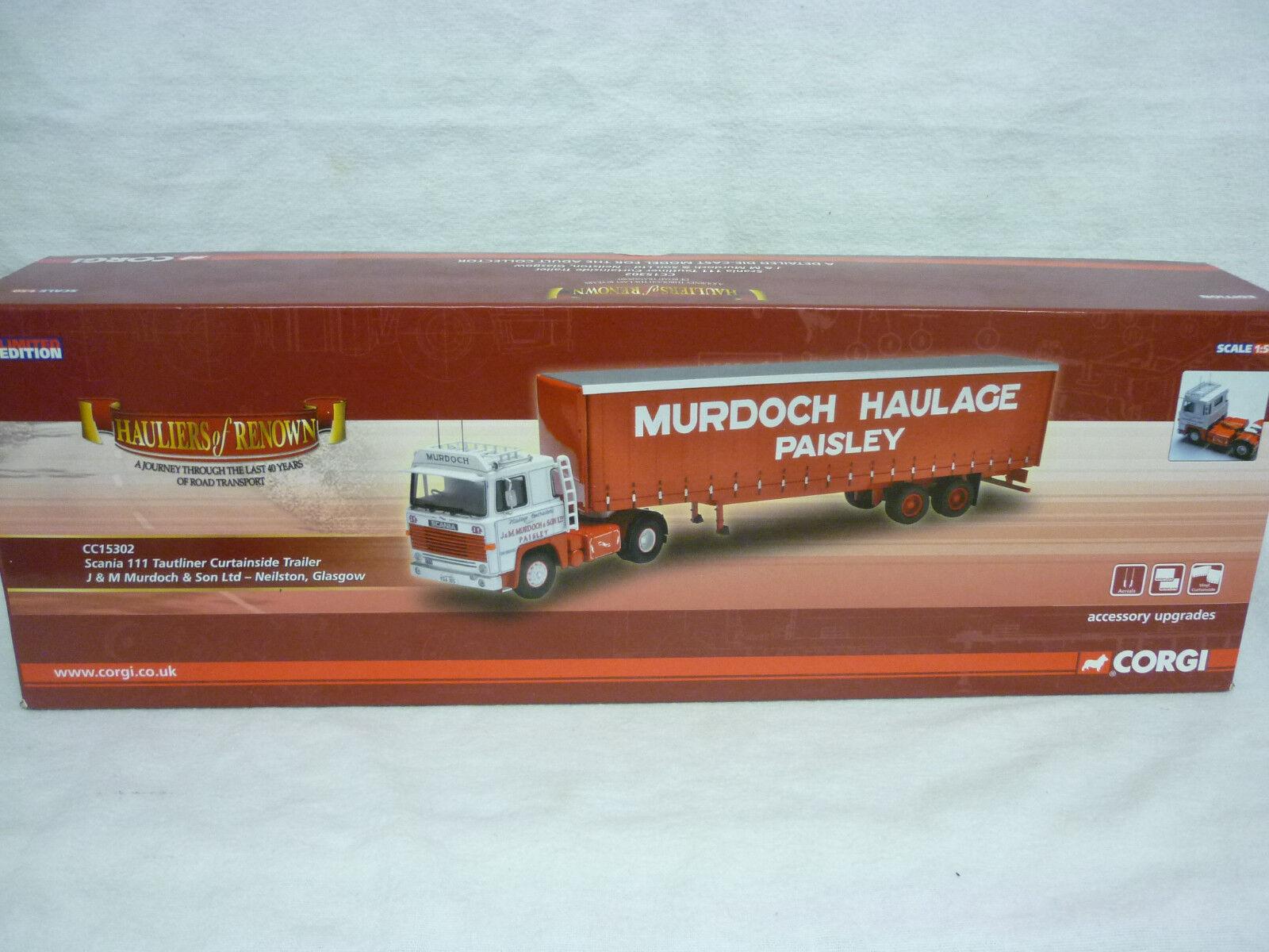 Corgi Camión Modernos transporte CC15302 Scania 111 tautiner Curtainside J & M Murdoch