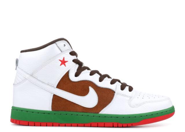 new concept acbc4 af618 Nike SB Dunk High Premium Cali 10.5 California Flag Pecan Brown Green White  Red