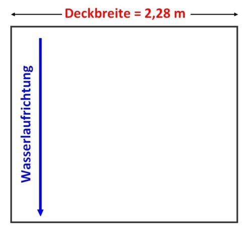 16,98 €//m² Pfannenblech Dachplatten Vliesbeschichtung Tropfschutz 0,5mm 1.Wahl