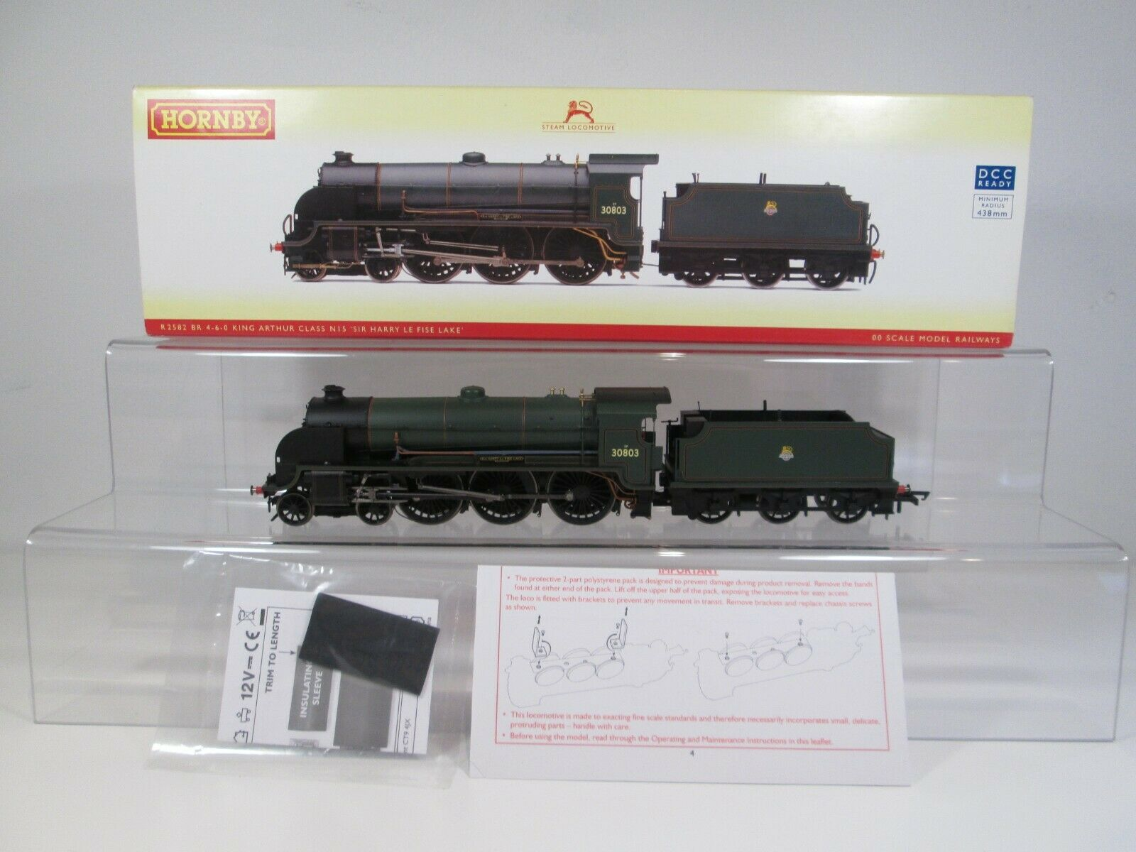 Hornby OO Gauge R2582 Class N15 30803 Sir Harry Le Fise Lake BR Green DCC Ready