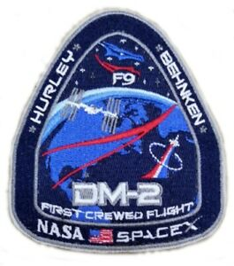 NASA-SPACEX-SPACE-DRAGON-DEMO-2-Mission-Rocket-Sew-On-amp-Iron-On-Patch-Badge