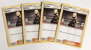4x-Cynthia-119-156-Pokemon-TCG-S-amp-M-Ultra-Prisma-partidario-Conjunto-de-Juego-de-4