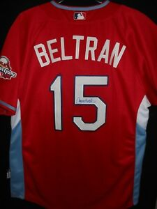 6685ab36 CARLOS BELTRAN SIGNED 2009 ALL STAR JERSEY AUTHENTIC MAJESTIC - NEW ...