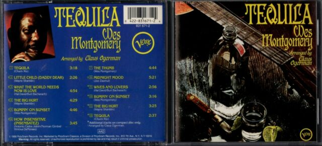 """Wes Montgomery - """" Tequila """" - 1966 , German 12 Track CD - LIKE NEW-FREE UK P&P"""