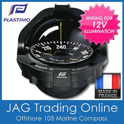 PLASTIMO OFFSHORE 95 WHITE BRACKET MOUNT BOAT//MARINE COMPASS /& 12V LIGHTING
