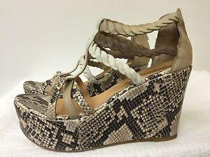 Womens Open Toe Rhinestone Clear Platform Wedge High Heels Sandals Clubwear I885