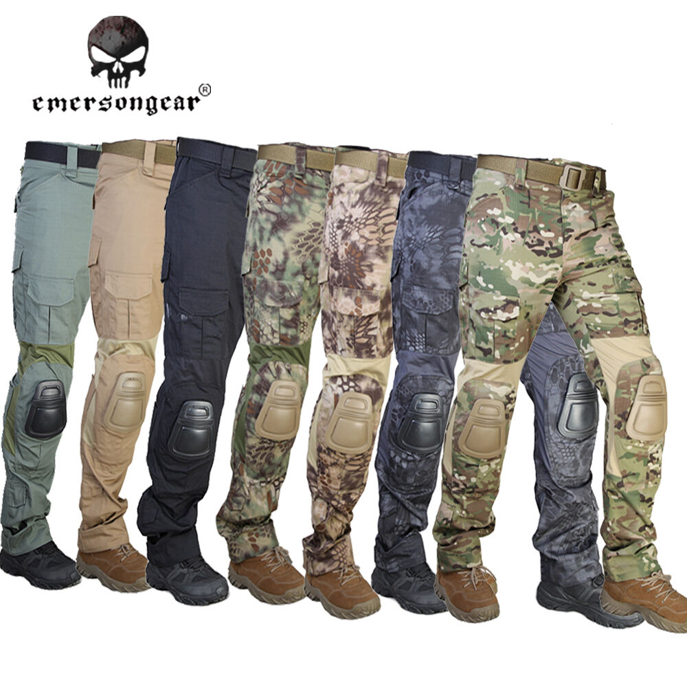 00283e158ee5 EMERSON G2 Tactical Pants w Knee Pads Airsoft Military Trousers CP MC CB  EM7038