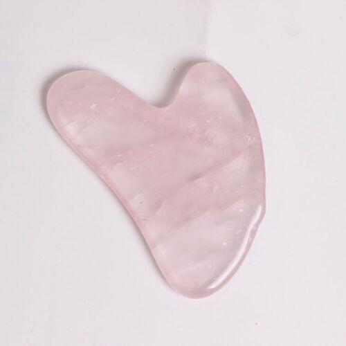 Natürliche rosa Quarz Kristallstein Gua Sha Roller Gesicht Hals Massage Pflege