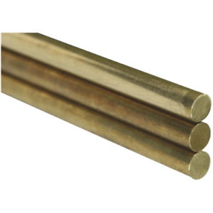 x 12 In 3-Count Solid Brass Rod K/&S 1//16 In