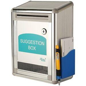 Aluminium-suggestion-box-Charity-box-Donation-box-with-lock-and-2-keys