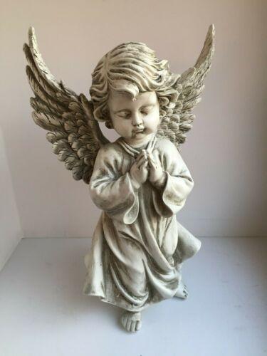 Grabengel Engel betend Groß 33 cm wetterfest Polyresin Grabschmuck Grabdeko