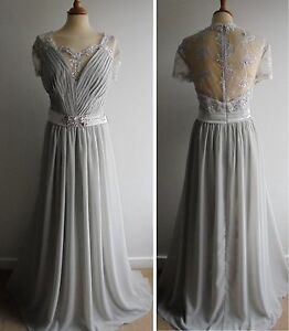 Jjs house silver plus size wedding dress bridal long a for Jj s wedding dresses