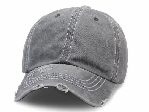 Baseball CAP Used-Look Cappuccio Basecap Snapback Retrò Vintage Unisex